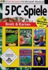 5 PC Spiele Brett & Karten (Billard 2 / Poker / Brettspiele / Trend Spiele / Logik und Denken - Gehirnjogging für jedes Alter)