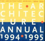 Architecture Annual 1994/95 Delft University of Technology
