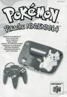 Pokemon Pikachu Nintendo 64 Gebrauchsanweisung