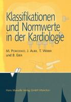 Klassifikationen und Normwerte in der Kardiologie