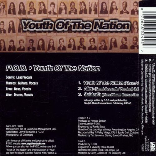 youth of the nation song summary Youth of the nation by pod 2001 • 1 song, 4:16 play on spotify 1 youth of the nation 4:16 0:30 featured on satellite (us version wea distribution) more.
